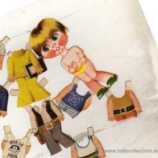 Coleccionismo Recortables: RECORTABLE. MARIQUITA. NIÑO CON SUS TRAJES VIVA LA PEPA. AÑOS 70-80. RECORTADO.. Lote 33498099