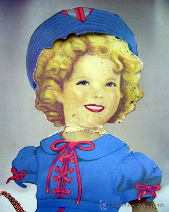 Coleccionismo Recortables: SHIRLEY TEMPLE, RECORTABLES Y MUÑECA DE CARTON, 39 CM, MARTA KREBS, 1940s, LEER DESCRIPCION - Foto 1 - 33996860