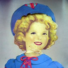 Coleccionismo Recortables: SHIRLEY TEMPLE, RECORTABLES Y MUÑECA DE CARTON, 39 CM, MARTA KREBS, 1940S, LEER DESCRIPCION. Lote 33996860