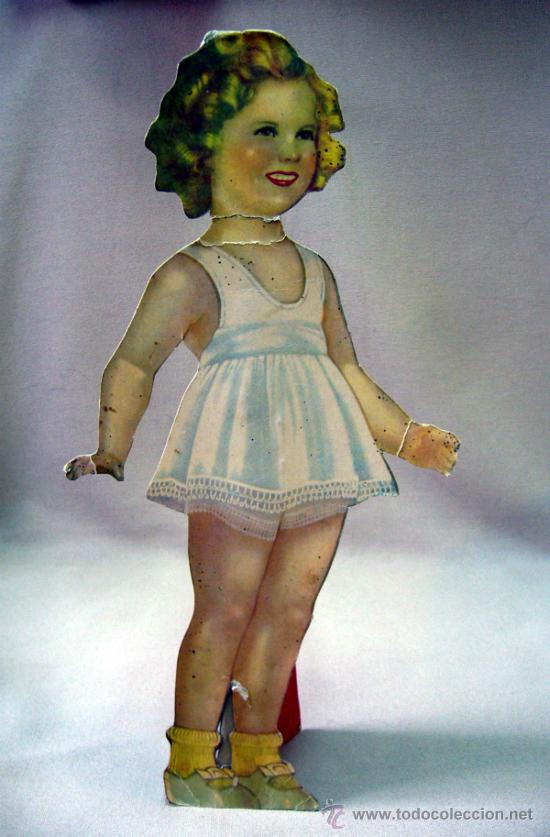 Coleccionismo Recortables: SHIRLEY TEMPLE, RECORTABLES Y MUÑECA DE CARTON, 39 CM, MARTA KREBS, 1940s - Foto 22 - 33997001