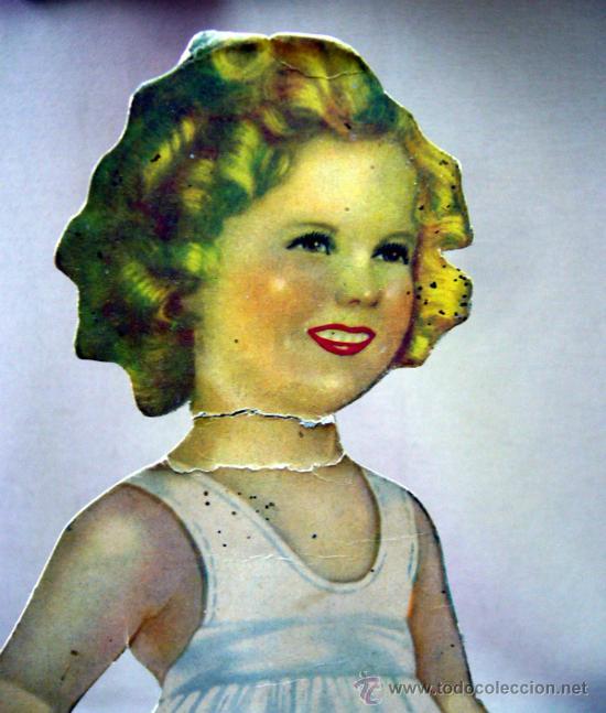 Coleccionismo Recortables: SHIRLEY TEMPLE, RECORTABLES Y MUÑECA DE CARTON, 39 CM, MARTA KREBS, 1940s - Foto 23 - 33997001