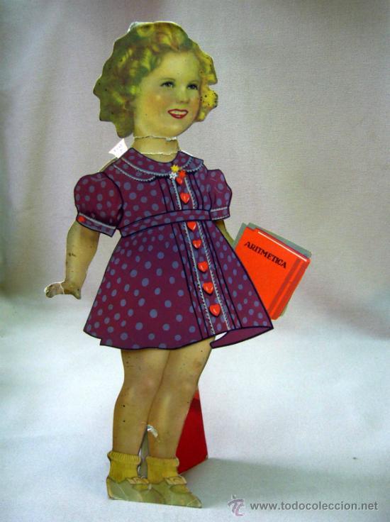 Coleccionismo Recortables: SHIRLEY TEMPLE, RECORTABLES Y MUÑECA DE CARTON, 39 CM, MARTA KREBS, 1940s - Foto 18 - 33997001