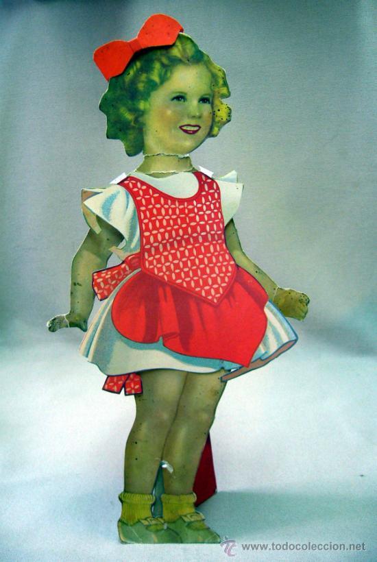 Coleccionismo Recortables: SHIRLEY TEMPLE, RECORTABLES Y MUÑECA DE CARTON, 39 CM, MARTA KREBS, 1940s - Foto 2 - 33997001