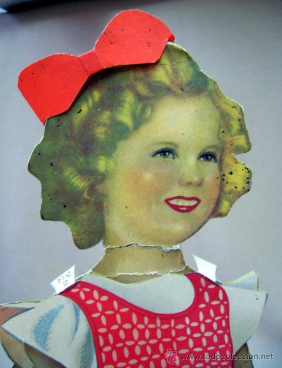 Coleccionismo Recortables: SHIRLEY TEMPLE, RECORTABLES Y MUÑECA DE CARTON, 39 CM, MARTA KREBS, 1940s - Foto 3 - 33997001