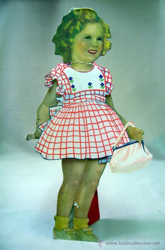 Coleccionismo Recortables: SHIRLEY TEMPLE, RECORTABLES Y MUÑECA DE CARTON, 39 CM, MARTA KREBS, 1940s - Foto 34 - 33997001