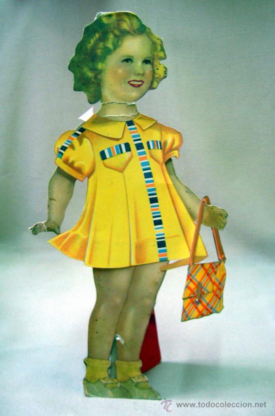Coleccionismo Recortables: SHIRLEY TEMPLE, RECORTABLES Y MUÑECA DE CARTON, 39 CM, MARTA KREBS, 1940s - Foto 10 - 33997001