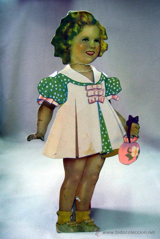 Coleccionismo Recortables: SHIRLEY TEMPLE, RECORTABLES Y MUÑECA DE CARTON, 39 CM, MARTA KREBS, 1940s - Foto 5 - 33997001