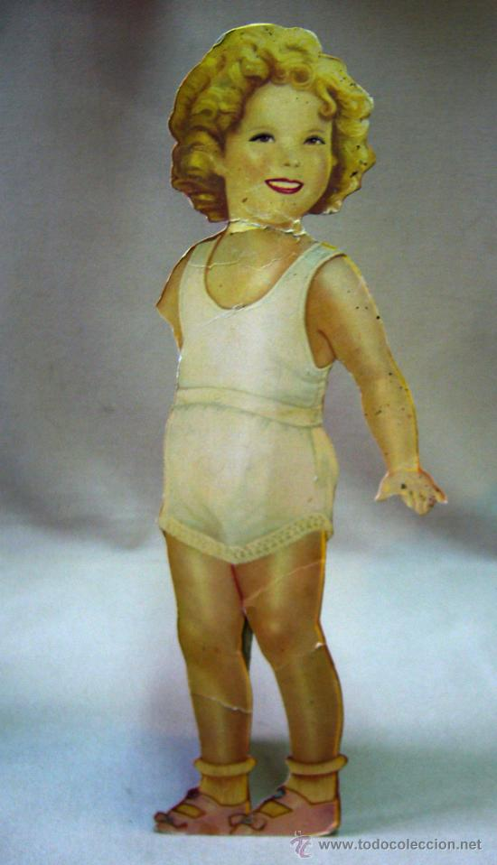 Coleccionismo Recortables: SHIRLEY TEMPLE, RECORTABLES Y MUÑECA DE CARTON, 39 CM, MARTA KREBS, 1940s, LEER DESCRIPCION - Foto 7 - 33996860