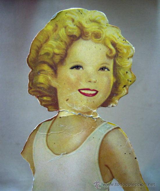 Coleccionismo Recortables: SHIRLEY TEMPLE, RECORTABLES Y MUÑECA DE CARTON, 39 CM, MARTA KREBS, 1940s, LEER DESCRIPCION - Foto 8 - 33996860