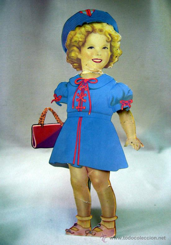 Coleccionismo Recortables: SHIRLEY TEMPLE, RECORTABLES Y MUÑECA DE CARTON, 39 CM, MARTA KREBS, 1940s, LEER DESCRIPCION - Foto 26 - 33996860