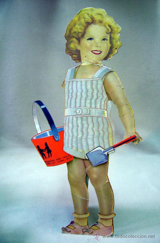 Coleccionismo Recortables: SHIRLEY TEMPLE, RECORTABLES Y MUÑECA DE CARTON, 39 CM, MARTA KREBS, 1940s, LEER DESCRIPCION - Foto 20 - 33996860