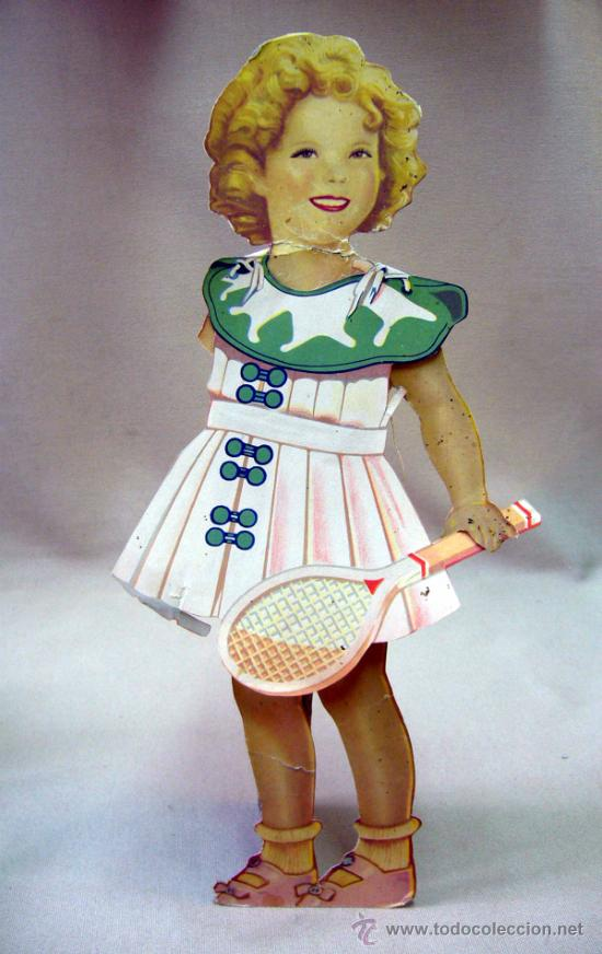 Coleccionismo Recortables: SHIRLEY TEMPLE, RECORTABLES Y MUÑECA DE CARTON, 39 CM, MARTA KREBS, 1940s, LEER DESCRIPCION - Foto 23 - 33996860