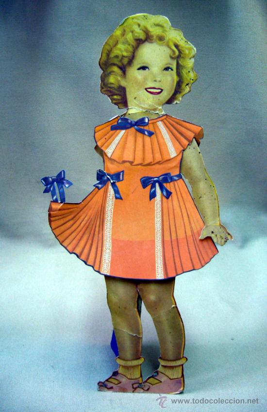 Coleccionismo Recortables: SHIRLEY TEMPLE, RECORTABLES Y MUÑECA DE CARTON, 39 CM, MARTA KREBS, 1940s, LEER DESCRIPCION - Foto 2 - 33996860