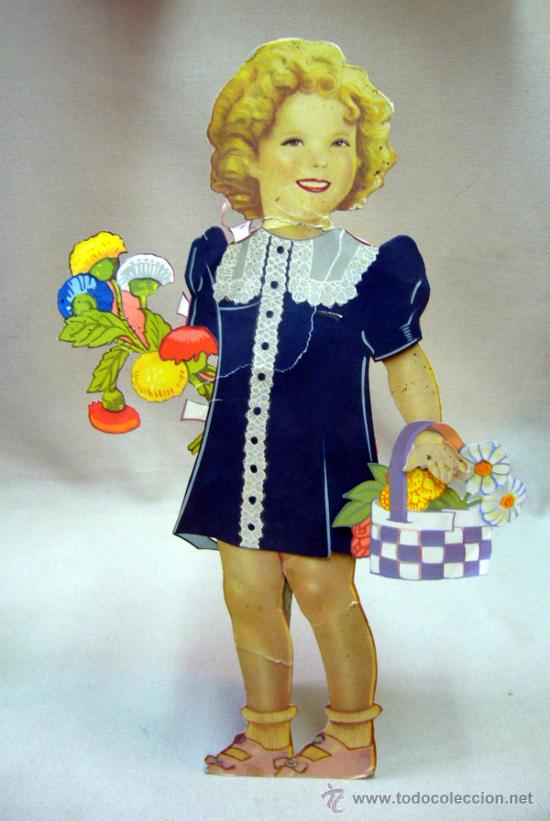Coleccionismo Recortables: SHIRLEY TEMPLE, RECORTABLES Y MUÑECA DE CARTON, 39 CM, MARTA KREBS, 1940s, LEER DESCRIPCION - Foto 12 - 33996860