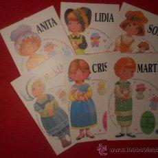 Coleccionismo Recortables: MIS QUERIDAS MUÑECAS, 6 RECORTABLES DE BRUGUERA.AÑO 1985.. Lote 35000865