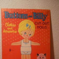 Coleccionismo Recortables: RECORTABLE BUTTONS AND BILLY DE EEUU LIBRO. Lote 35007463