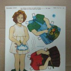 Coleccionismo Recortables: RECORTABLE BABY - SHIRLEY TEMPLE, AÑOS 40, SERIE A, Nº 6-P. Lote 35796901