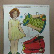 Coleccionismo Recortables: RECORTABLE BABY - SHIRLEY TEMPLE, AÑOS 40, SERIE A, Nº 5-P. Lote 35796917