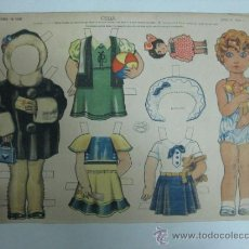 Coleccionismo Recortables: CELIA - ED. LA TIJERA - SERIE 35, Nº 1 - AÑOS 40. Lote 35797899