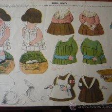 Coleccionismo Recortables: MARIA JOSE.- MARCA 'LA TIJERA' SERIE 25 Nº 20. GRAN TAMAÑO (49X34,5 CM.). EN CARTULINA.. Lote 36462453
