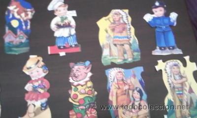 LOTE DE 40 RECORTABLES YA RECORTADOS.VARIOSMUÑECAS,ANIMALES,INDIOS,CAWBOYS ETC (Coleccionismo - Recortables - Muñecas)