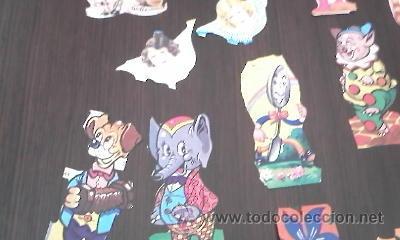 Coleccionismo Recortables: Lote de 40 recortables ya recortados.Variosmuñecas,animales,indios,cawboys ETC - Foto 7 - 36543876