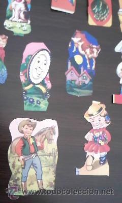 Coleccionismo Recortables: Lote de 40 recortables ya recortados.Variosmuñecas,animales,indios,cawboys ETC - Foto 9 - 36543876