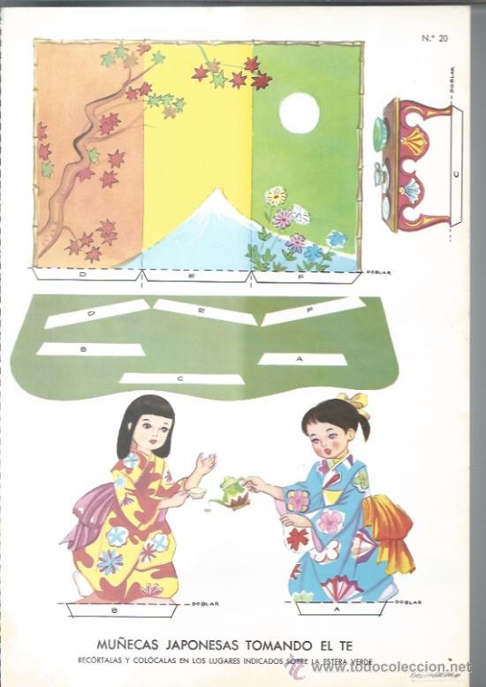 RECORTABLE DE LOS AÑOS 60 - FUKAYA - Nº 20 - (Coleccionismo - Recortables - Muñecas)