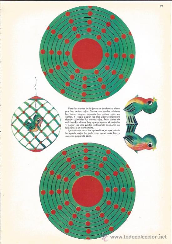 RECORTABLE DE LOS AÑOS 60 - JAULA - Nº 27 - (Coleccionismo - Recortables - Muñecas)
