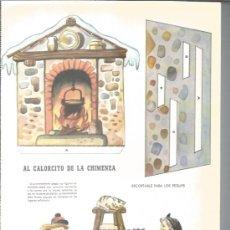 Coleccionismo Recortables: RECORTABLE DE LOS AÑOS 60 - EL CALORCITO DE LA CHIMENEA Nº 13 -. Lote 37044857