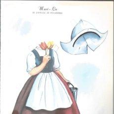 Coleccionismo Recortables: RECORTABLE DE LOS AÑOS 60 - MARI -LO - SE DIFRAZA DE HOLANDESA -. Lote 37044878