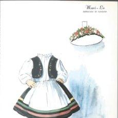Coleccionismo Recortables: RECORTABLE DE LOS AÑOS 60 - MARI -LO - DISFRAZADA DE HUNGARA -. Lote 37044893