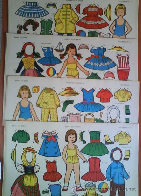 CINCO RECORTABLES MUÑECAS : LA TIJERA SERIE IMPERIO 9 -12 - 13 - 15 - 16 (Coleccionismo - Recortables - Muñecas)