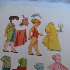 Coleccionismo Recortables: 9 PIEZAS RECORTADAS MUÑECA ANTIGUA. Lote 37750987