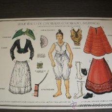 Coleccionismo Recortables: CARTEL RECORTABLE CON EL TRAJE REGIONAL TÍPICO DE CANDELARIA - PUEBLO DE CANDELARIO (SALAMANCA) -. Lote 38168254