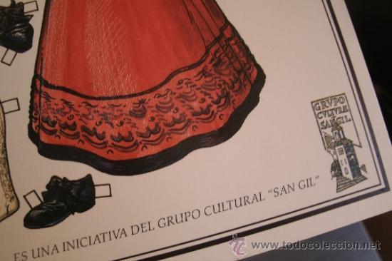 Coleccionismo Recortables: CARTEL RECORTABLE CON EL TRAJE REGIONAL TÍPICO DE CANDELARIA - PUEBLO DE CANDELARIO (SALAMANCA) - - Foto 2 - 38168254