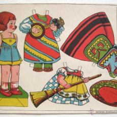 Coleccionismo Recortables: LAMINA RECORTABLES MUÑECAS MARI LU Nº 2 AÑOS 50. Lote 39782615