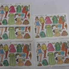 Coleccionismo Recortables: LOTE DE 20 LAMINAS MUÑECAS RECORTABLES EVA 812. Lote 39797106