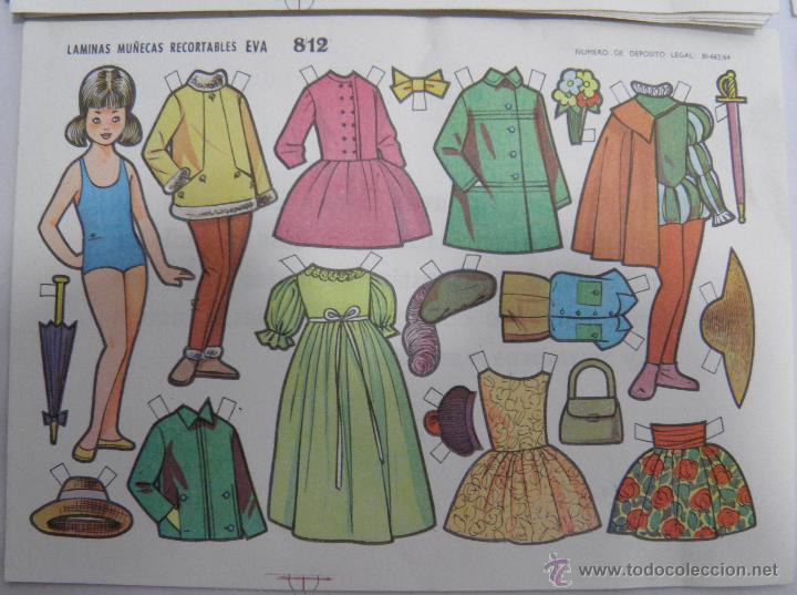 Coleccionismo Recortables: LOTE DE 20 LAMINAS MUÑECAS RECORTABLES EVA 812 - Foto 2 - 39797106