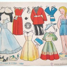 Coleccionismo Recortables: LAMINA RECORTABLE MUÑECAS. FERNANDA. ILUSTRACION ENRIQUETA BOMBON. EDITORIAL BRUGUERA AÑO 1959. Lote 40906386