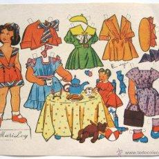 Coleccionismo Recortables: LAMINA RECORTABLES MUÑECAS DIBUJADO POR EUGEN. MODELO MARI LOY AÑOS 50. Lote 41098495
