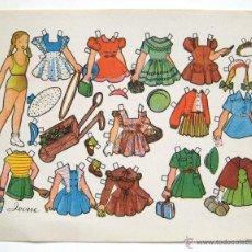 Coleccionismo Recortables: LAMINA RECORTABLES MUÑECAS MODELO IVONE AÑOS 50 . Lote 41100506