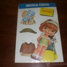 Coleccionismo Recortables: MUÑECA RECORTABLE. MODA CHIC. EDITORIAL BEASCOA. A ESTRENAR, AÑOS 70. Lote 52536763