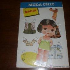 Coleccionismo Recortables: MUÑECA RECORTABLE. MODA CHIC. EDITORIAL BEASCOA. A ESTRENAR, AÑOS 70. Lote 41672426