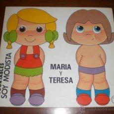 Coleccionismo Recortables: SOY MODISTA. EDITORIAL BRUGUERA. A ESTRENAR. AÑO 1982. MARIA Y TERESA. Lote 42257967