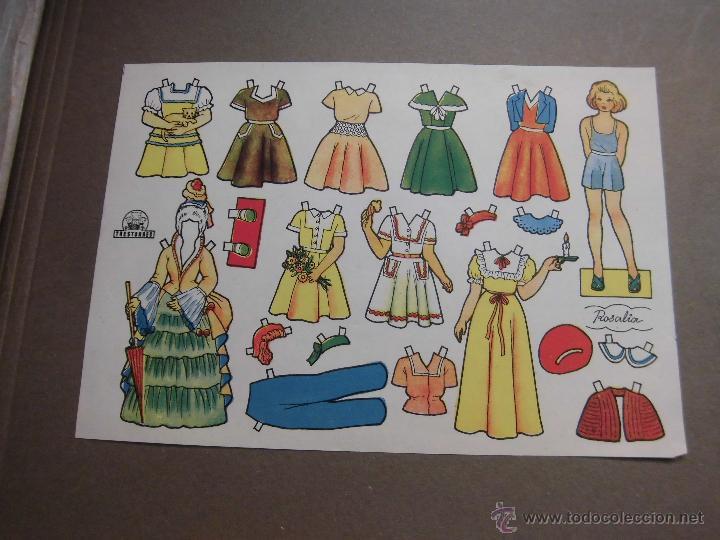 ANTIGUO RECORTABLE TRESTORRES. ROSALIA (Coleccionismo - Recortables - Muñecas)