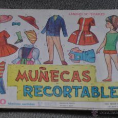 Coleccionismo Recortables: MUÑECAS RECORTABLES ED. VASCO AMERICANA EVA 50 LAMINAS SURTIDAS 1 SERIE PAPEL FINO. Lote 95924943