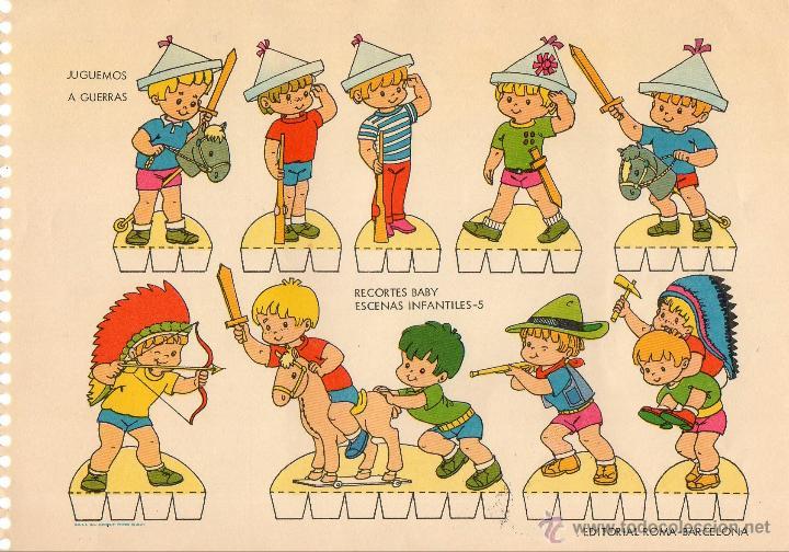 Recoltable De Juegos Infantiles Comprar Recortables Antiguos De