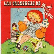 Coleccionismo Recortables: CUENTO CON SUPLEMENTO RECORTABLE DE MARI PEPA, LAS CALABAZAS. MARIA CLARET. TEXTO EMILIA CORTARELO.. Lote 45195009