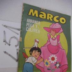 Coleccionismo Recortables: ANTIGUO LIBRO DE RECORTABLES MARCO - ARRANCA, PEGA Y COLOREA - ENVIO GRATIS A ESPAÑA . Lote 45333796